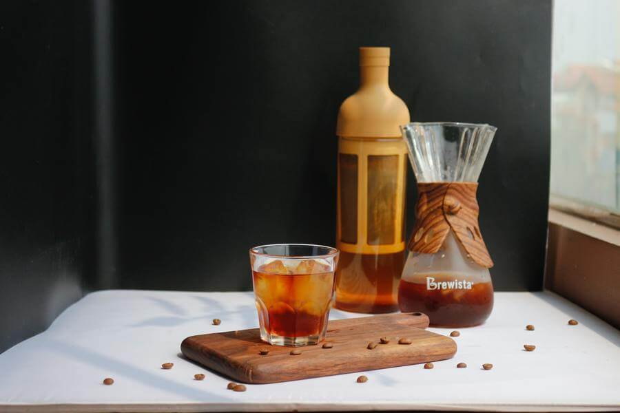 Cold brew carafe and glass