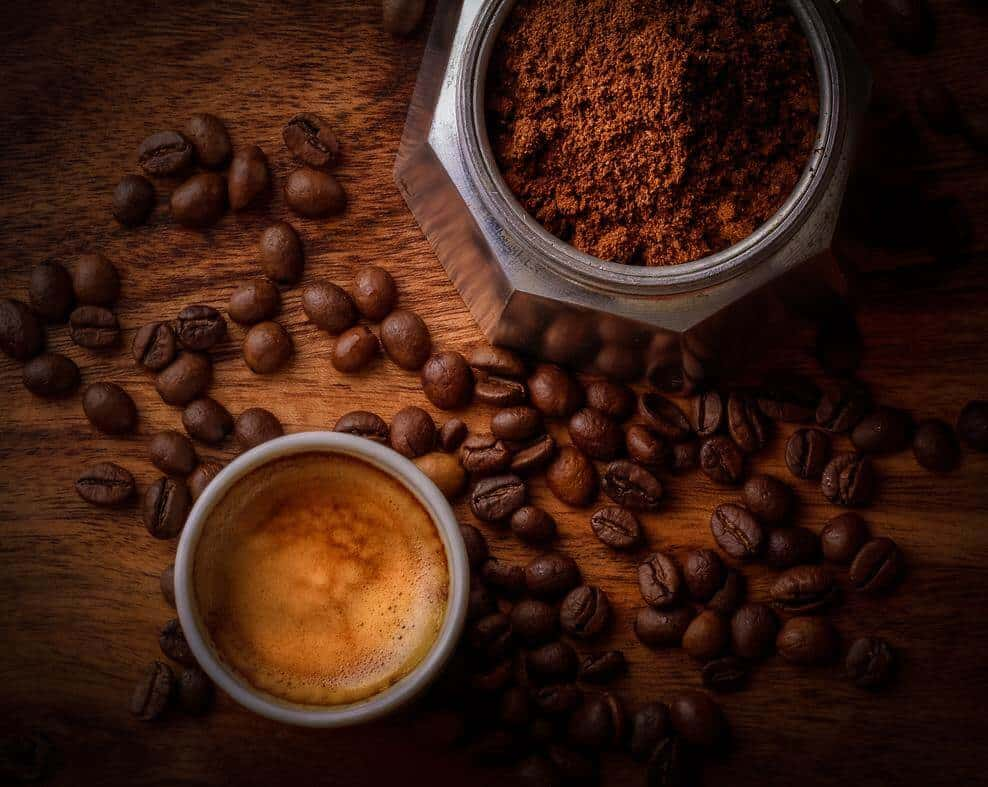Coffee is mainly made of coffee beans which acts as a mild stimulant