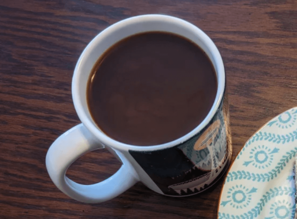 Cup of chicory coffee