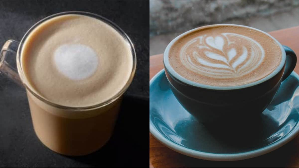 Starbucks' Flat White and Latte side by side