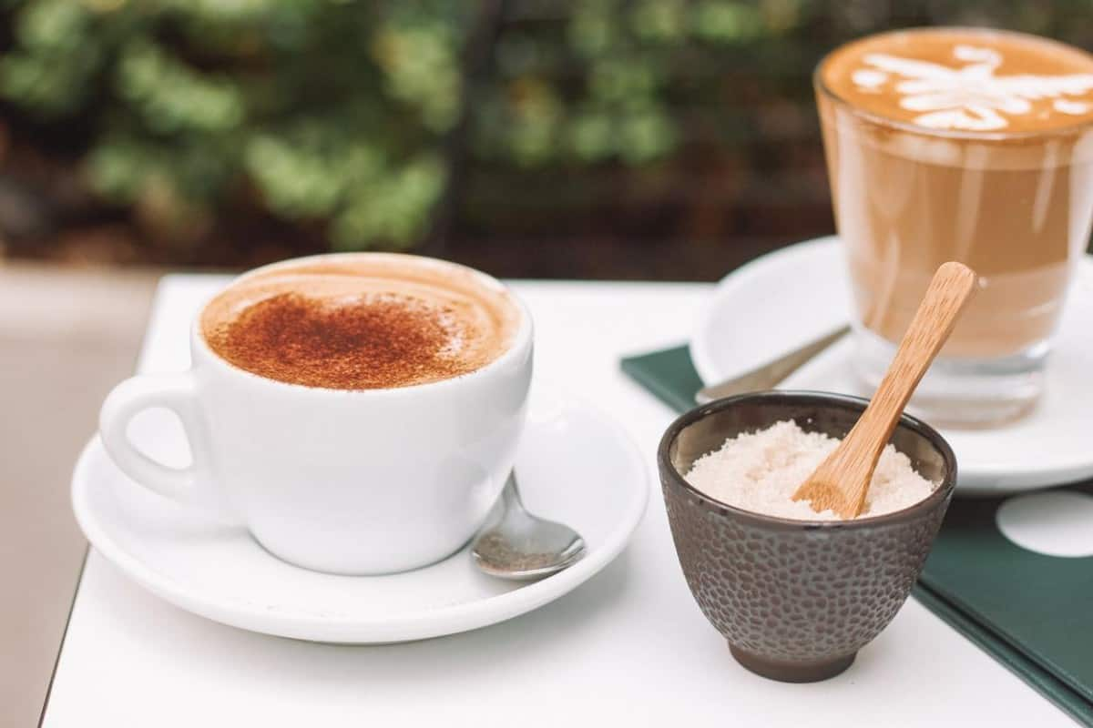 cup of coffee with sugar