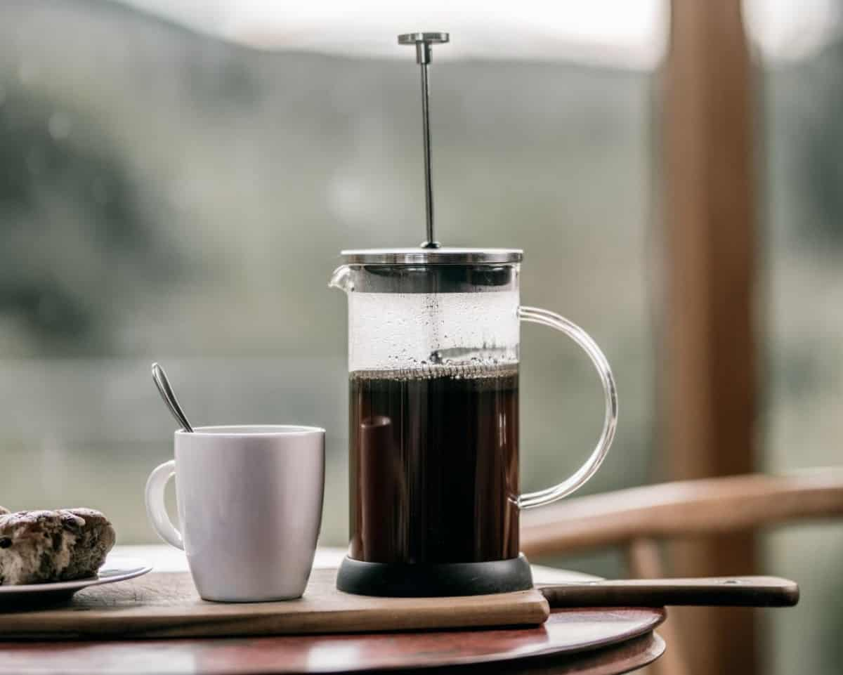 Immersion Coffee brewed and ready to serve