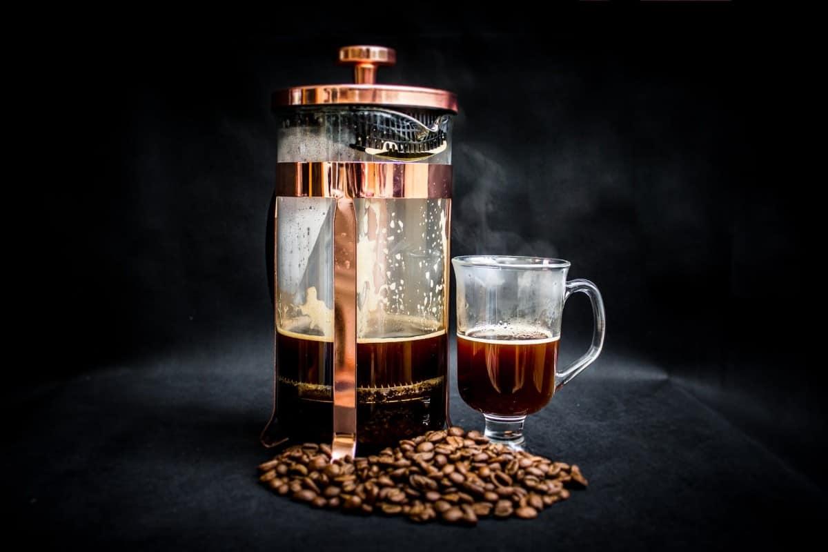 coffee warmer pump jar filled with coffee