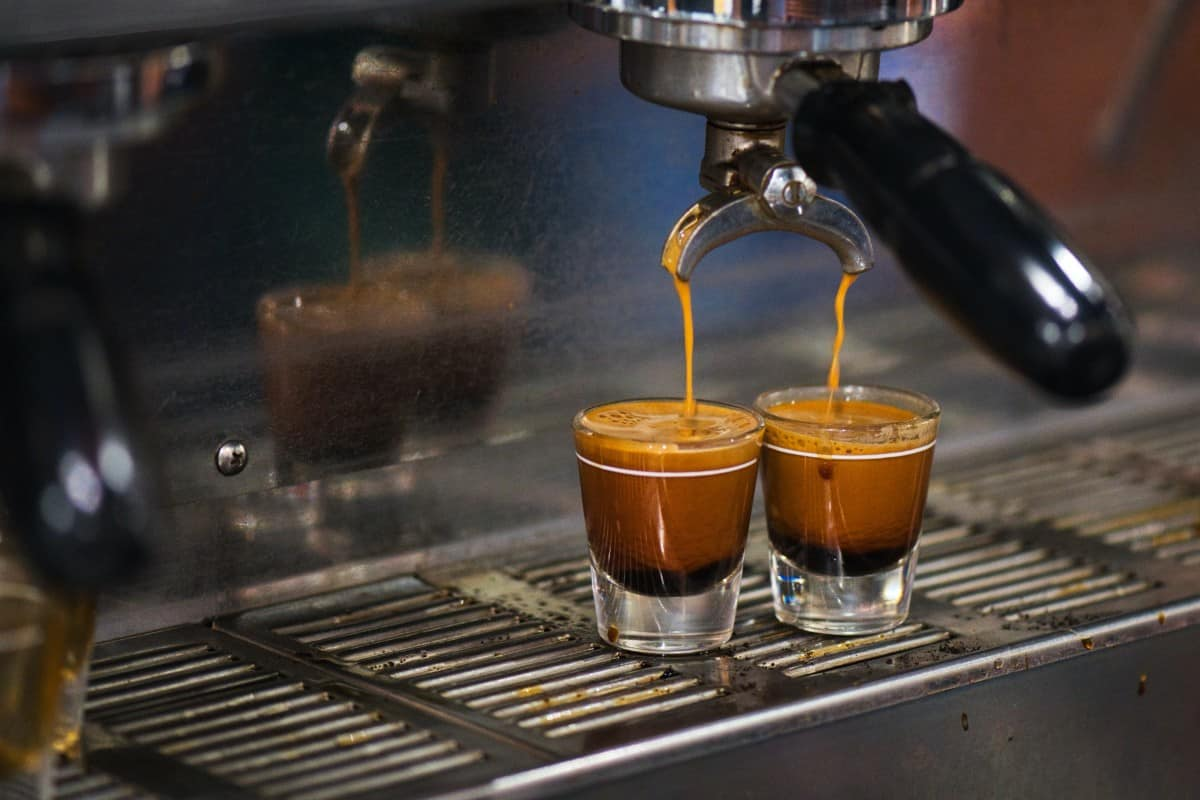 shots of fresh espresso