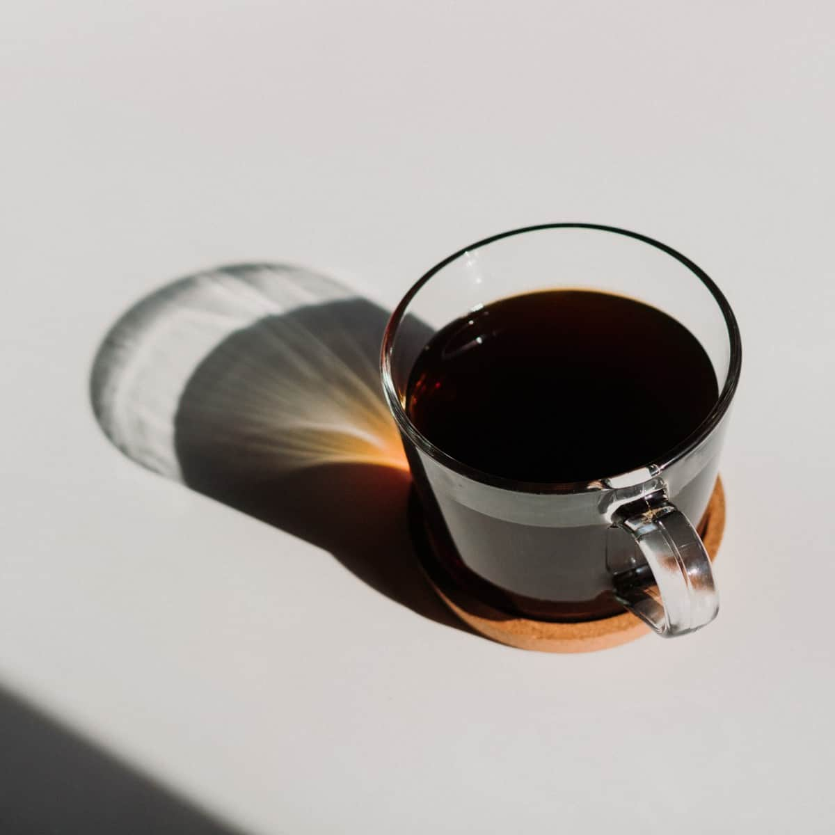 a cup of long black coffee