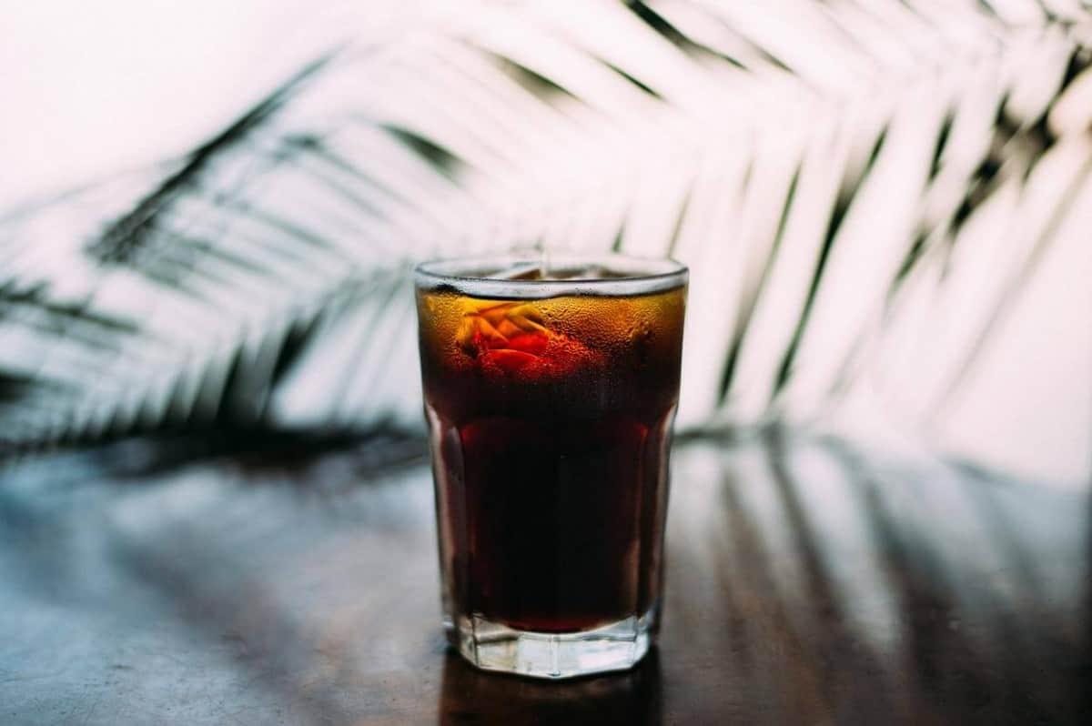 A glass of americano