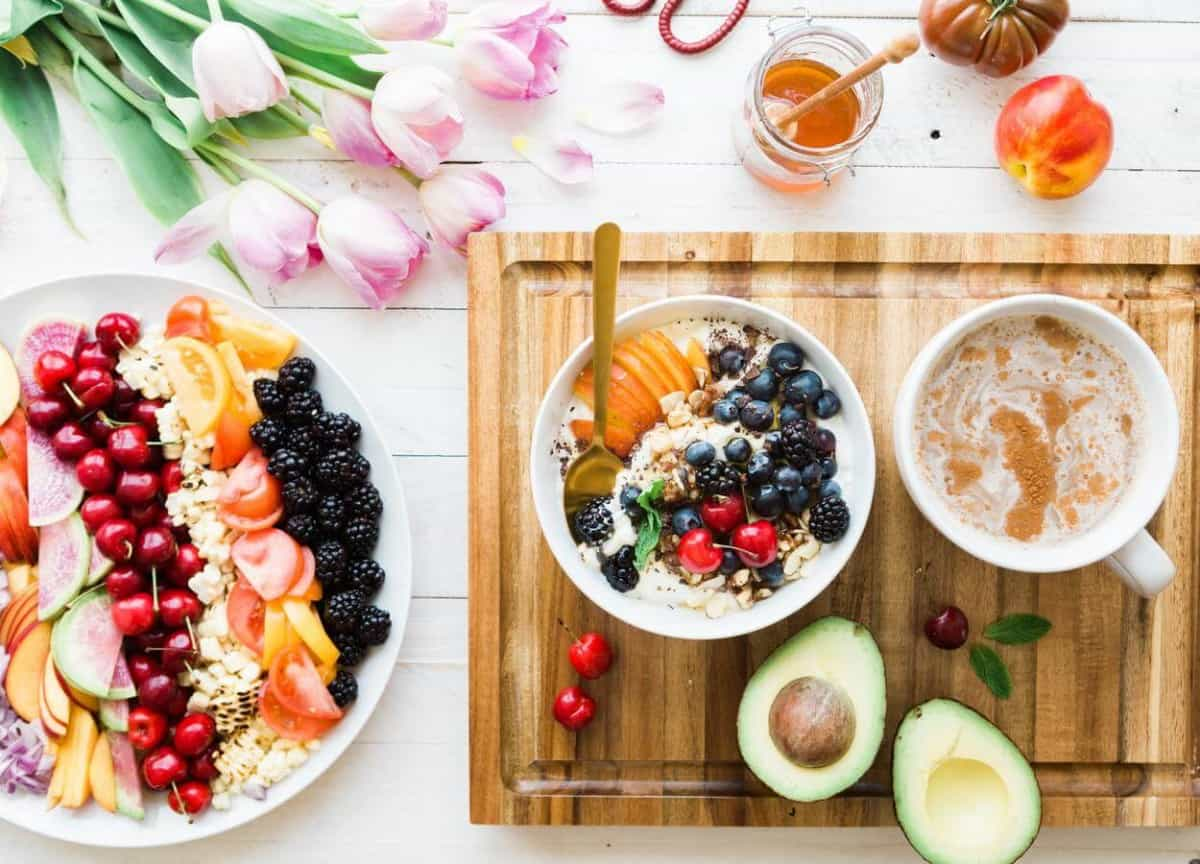Fruits and coffee